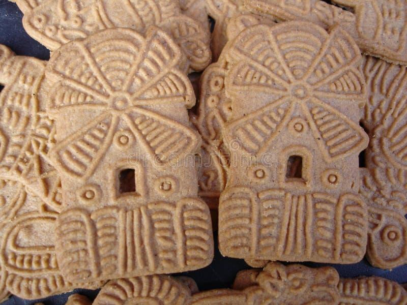 ολλανδικά speculaasjes μπισκότων στοκ φωτογραφία
