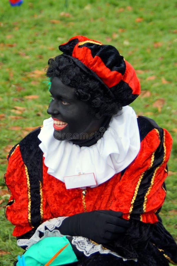 Ολλανδικός παραδοσιακός χαρακτήρας Zwarte Piet λαογραφίας στοκ φωτογραφίες