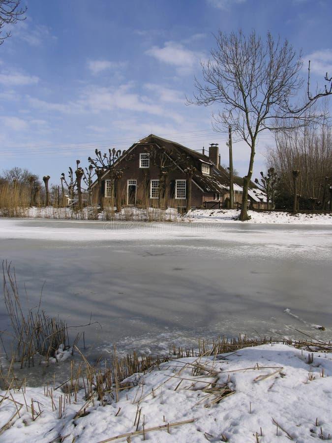 ολλανδικό αγροτικό 2 σπίτ&iota Στοκ φωτογραφία με δικαίωμα ελεύθερης χρήσης