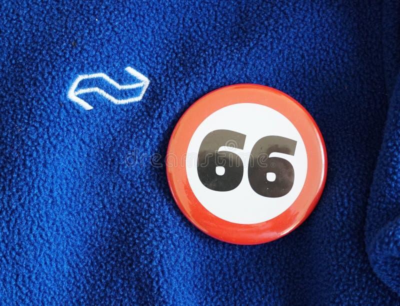 Ολλανδικό λογότυπο σιδηροδρόμων στοκ φωτογραφία με δικαίωμα ελεύθερης χρήσης