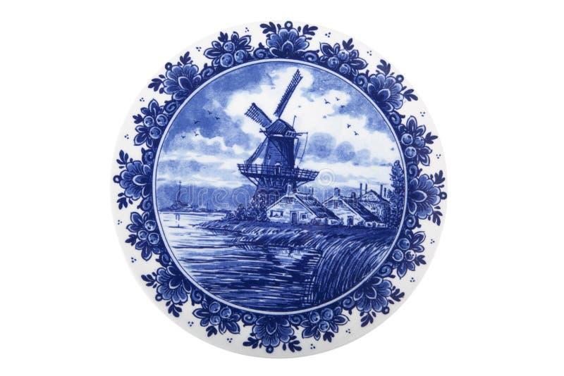 Ολλανδικό χρωματισμένο πιάτο στοκ φωτογραφία με δικαίωμα ελεύθερης χρήσης