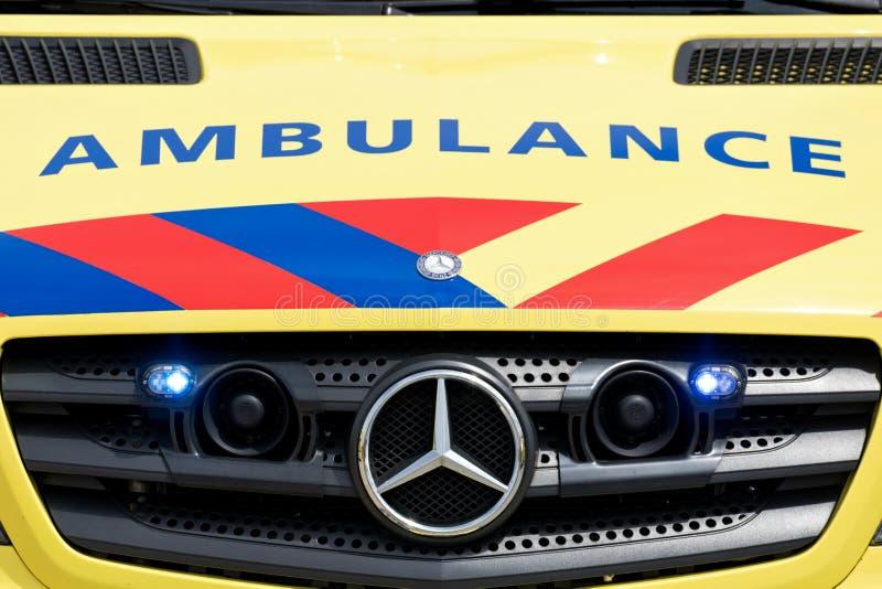 Ολλανδικό όχημα ασθενοφόρων στοκ φωτογραφίες με δικαίωμα ελεύθερης χρήσης