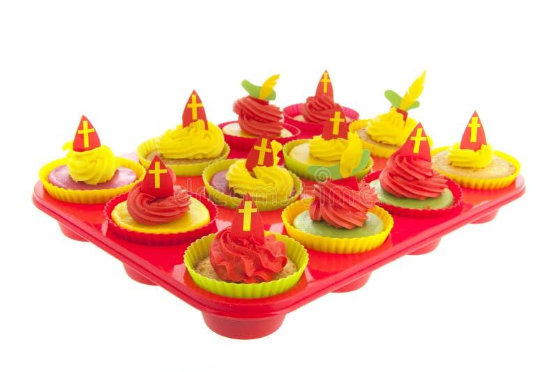 Ολλανδικό Sinterklaas cupcakes στοκ φωτογραφίες με δικαίωμα ελεύθερης χρήσης