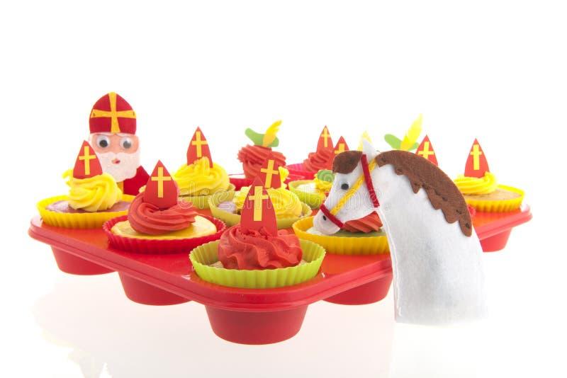 Ολλανδικό Sinterklaas cupcakes στοκ εικόνες με δικαίωμα ελεύθερης χρήσης