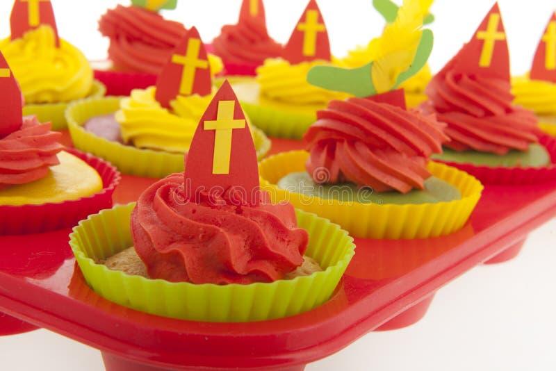 Ολλανδικό Sinterklaas cupcakes στοκ εικόνες