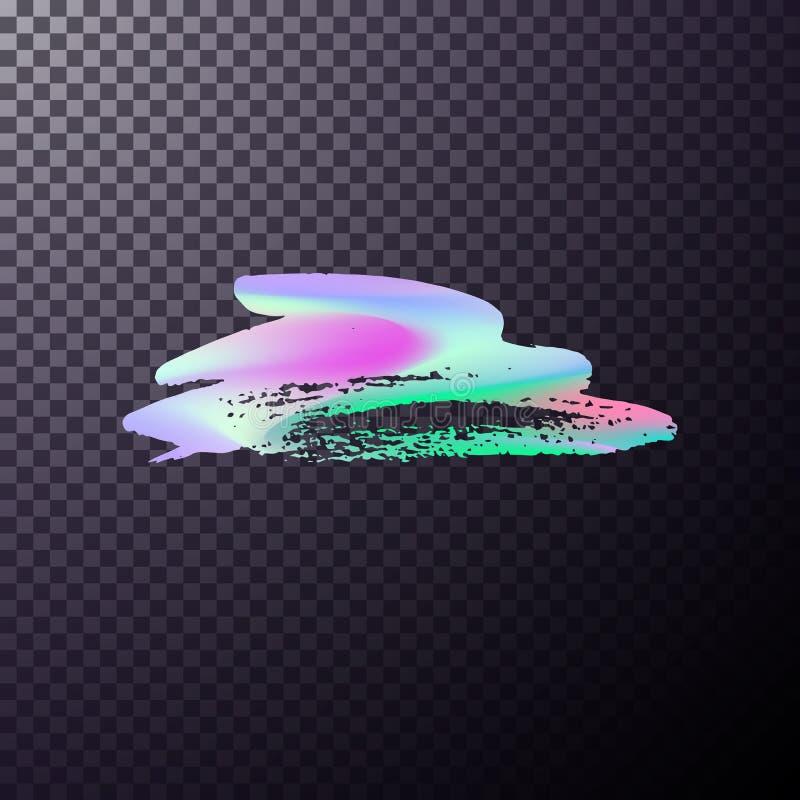 Ολογραφικό χρώμα βουρτσών ελεύθερη απεικόνιση δικαιώματος