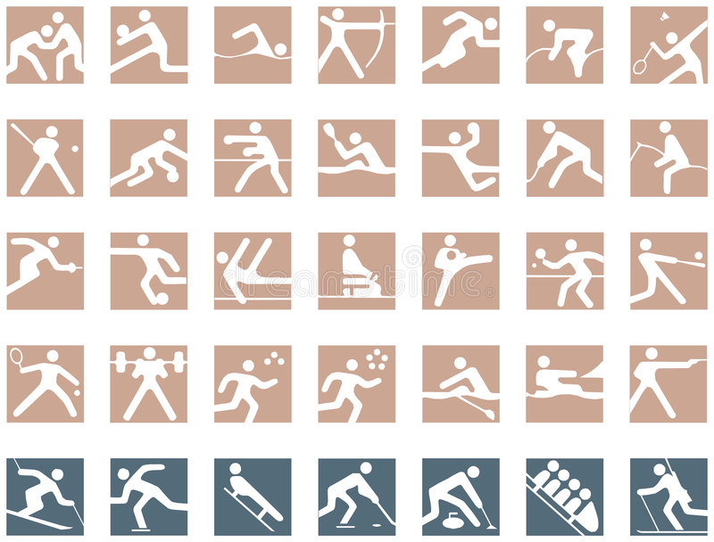 ολυμπιακά σύμβολα απεικόνιση αποθεμάτων