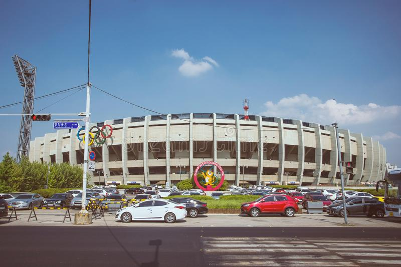 Ολυμπιακή άποψη σταδίων στη Σεούλ στοκ φωτογραφία