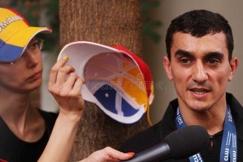 Ολυμπιακή διαμαρτυρία κατόχων μεταλλίων - Ρουμανία στοκ εικόνες με δικαίωμα ελεύθερης χρήσης