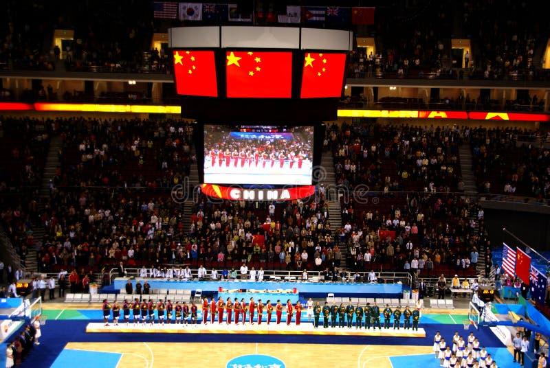ολυμπιακή τεθειμένη υπηρεσία του Πεκίνου καλαθοσφαίρισης χώρων στοκ εικόνες με δικαίωμα ελεύθερης χρήσης