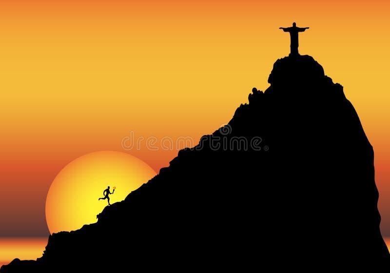 Ολυμπιακοί Αγώνες Ρίο διανυσματική απεικόνιση