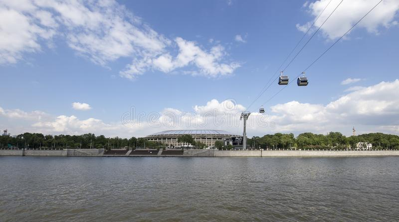 Ολυμπιακός σύνθετος Luzhniki σταδίων αθλητικών χώρων της Μόσχας μεγάλος -- Στάδιο για το Παγκόσμιο Κύπελλο της FIFA του 2018 στη  στοκ εικόνες με δικαίωμα ελεύθερης χρήσης