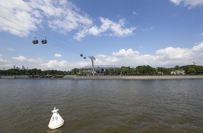 Ολυμπιακός σύνθετος Luzhniki σταδίων αθλητικών χώρων της Μόσχας μεγάλος -- Στάδιο για το Παγκόσμιο Κύπελλο της FIFA του 2018 στη  στοκ φωτογραφία