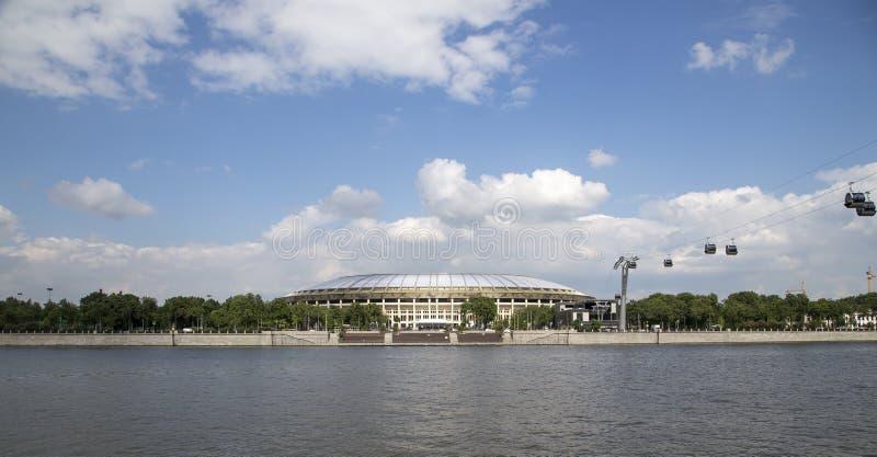 Ολυμπιακός σύνθετος Luzhniki σταδίων αθλητικών χώρων της Μόσχας μεγάλος -- Στάδιο για το Παγκόσμιο Κύπελλο της FIFA του 2018 στη  στοκ φωτογραφία με δικαίωμα ελεύθερης χρήσης