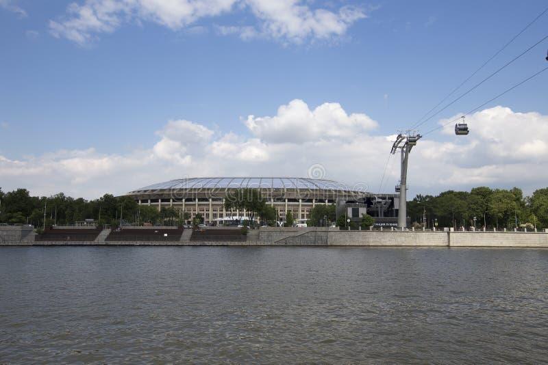 Ολυμπιακός σύνθετος Luzhniki σταδίων αθλητικών χώρων της Μόσχας μεγάλος -- Στάδιο για το Παγκόσμιο Κύπελλο της FIFA του 2018 στη  στοκ φωτογραφίες με δικαίωμα ελεύθερης χρήσης