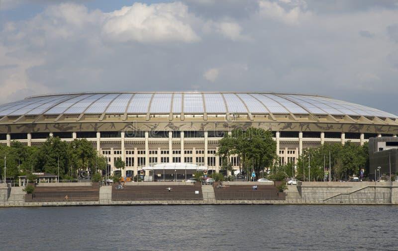 Ολυμπιακός σύνθετος Luzhniki σταδίων αθλητικών χώρων της Μόσχας μεγάλος -- Στάδιο για το Παγκόσμιο Κύπελλο της FIFA του 2018 στη  στοκ εικόνες