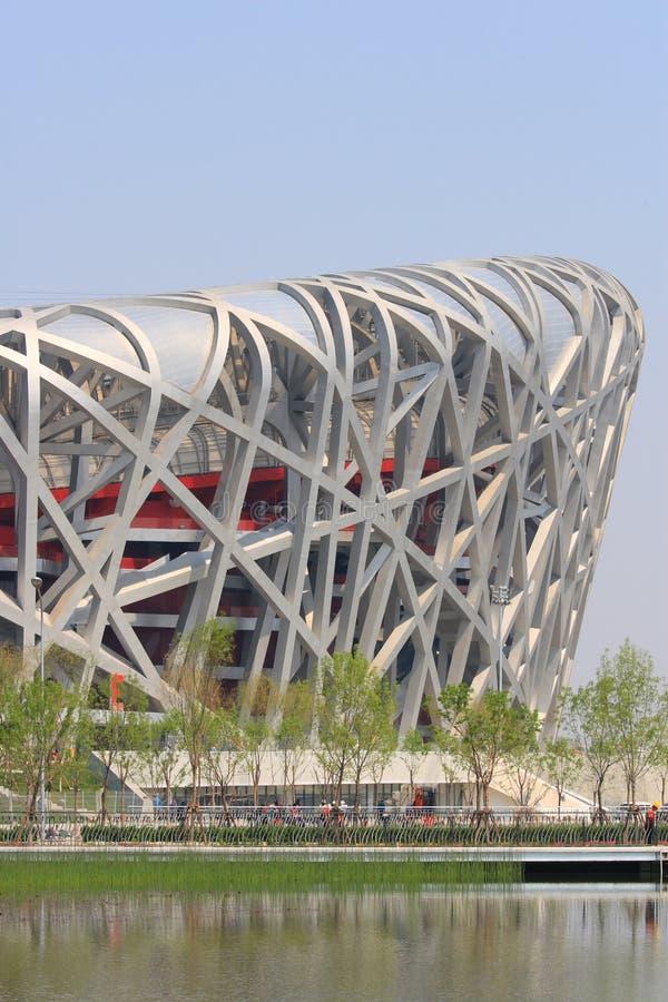 ολυμπιακό στάδιο του Πεκίνου στοκ εικόνες