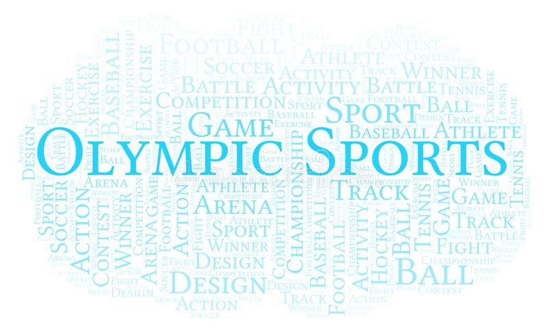 Ολυμπιακό σύννεφο αθλητικής λέξης ελεύθερη απεικόνιση δικαιώματος