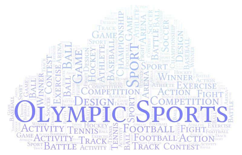 Ολυμπιακό σύννεφο αθλητικής λέξης διανυσματική απεικόνιση