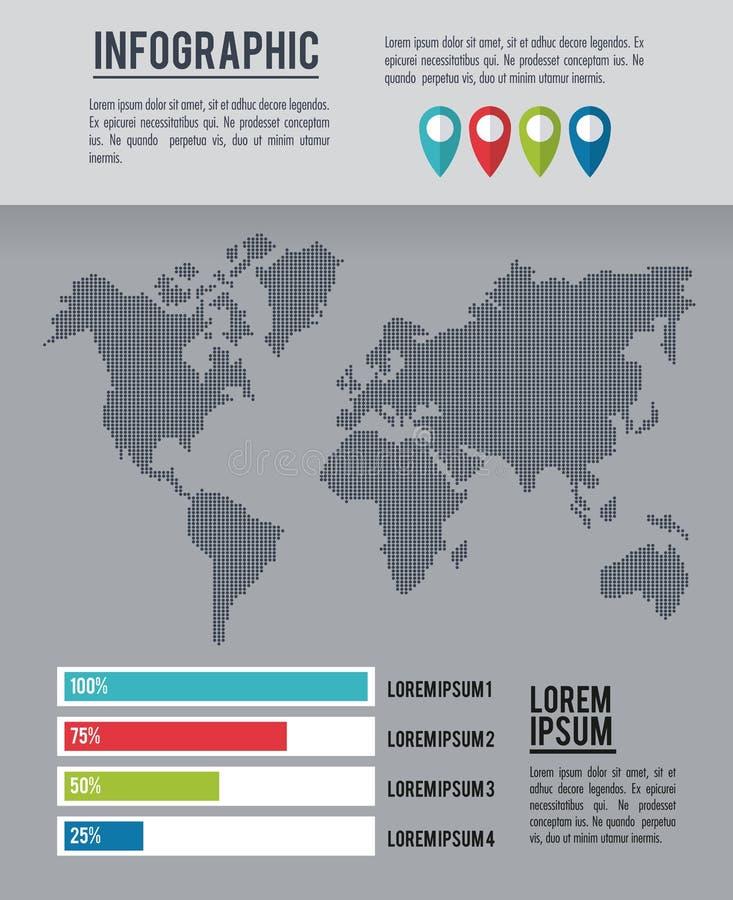 Ολόκληρος κόσμος Infographic ελεύθερη απεικόνιση δικαιώματος