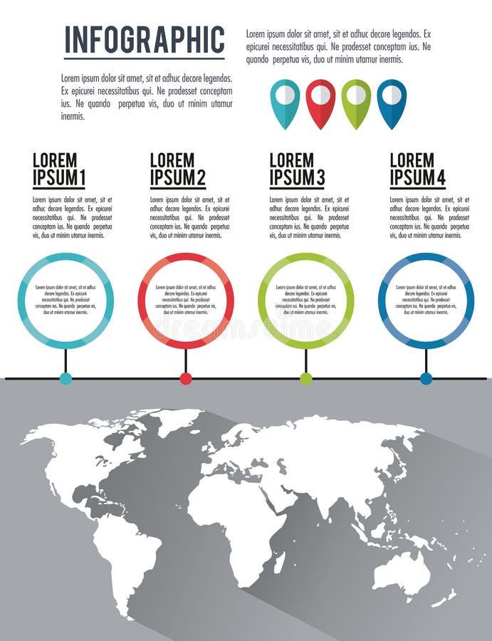Ολόκληρος κόσμος Infographic διανυσματική απεικόνιση