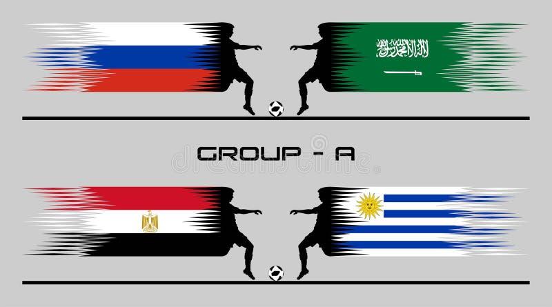 2018 ομάδα †«Α χώρας ποδοσφαίρου απεικόνιση αποθεμάτων