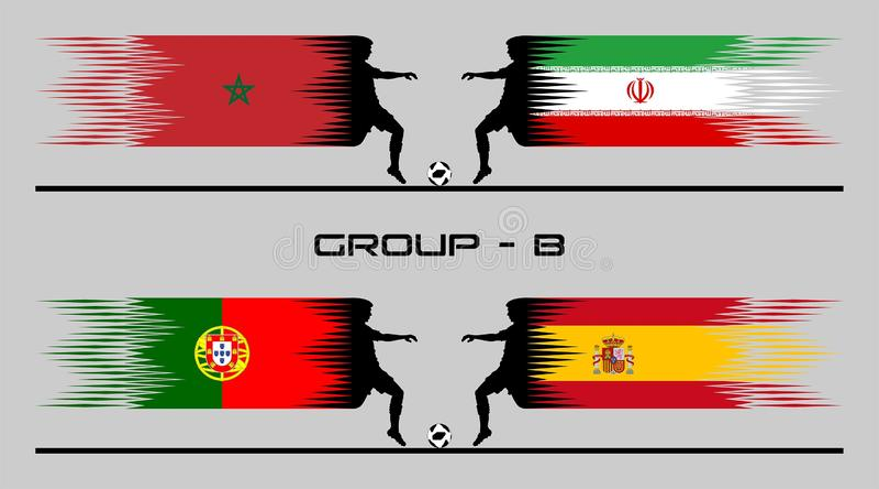 2018 ομάδα †«Β χώρας ποδοσφαίρου διανυσματική απεικόνιση