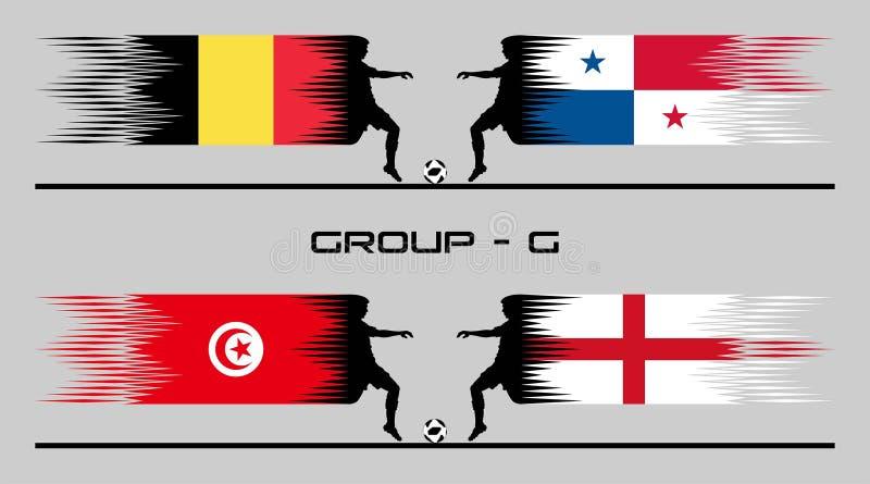 2018 ομάδα †«Γ χώρας ποδοσφαίρου ελεύθερη απεικόνιση δικαιώματος