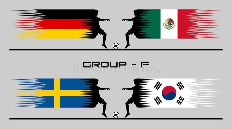 2018 ομάδα †«Φ χώρας ποδοσφαίρου ελεύθερη απεικόνιση δικαιώματος