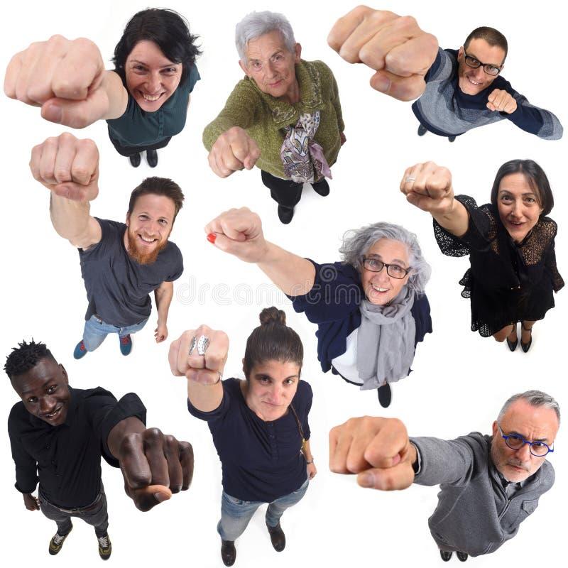Ομάδα ανθρώπων με την πυγμή επάνω στοκ φωτογραφία με δικαίωμα ελεύθερης χρήσης