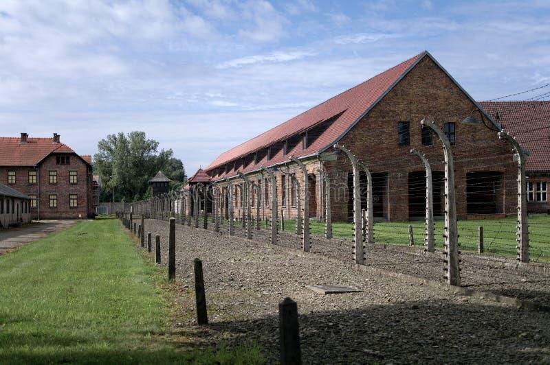 Ομάδα δεδομένων των σπιτιών σε Auschwitz στοκ εικόνες με δικαίωμα ελεύθερης χρήσης