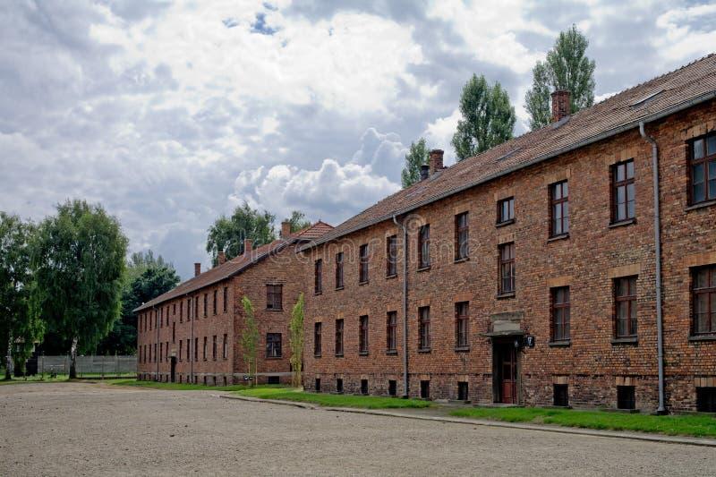 Ομάδα δεδομένων των σπιτιών σε Auschwitz στοκ φωτογραφία με δικαίωμα ελεύθερης χρήσης