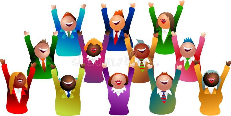 ομάδα επιτυχίας ελεύθερη απεικόνιση δικαιώματος