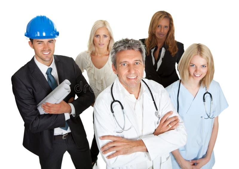 Ομάδα επιχειρηματιών που απομονώνονται στο λευκό στοκ εικόνα με δικαίωμα ελεύθερης χρήσης