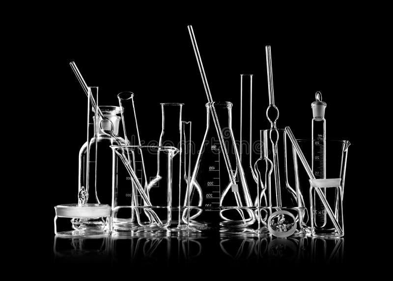 Ομάδα εργαστηριακών γυαλικών στοκ εικόνα