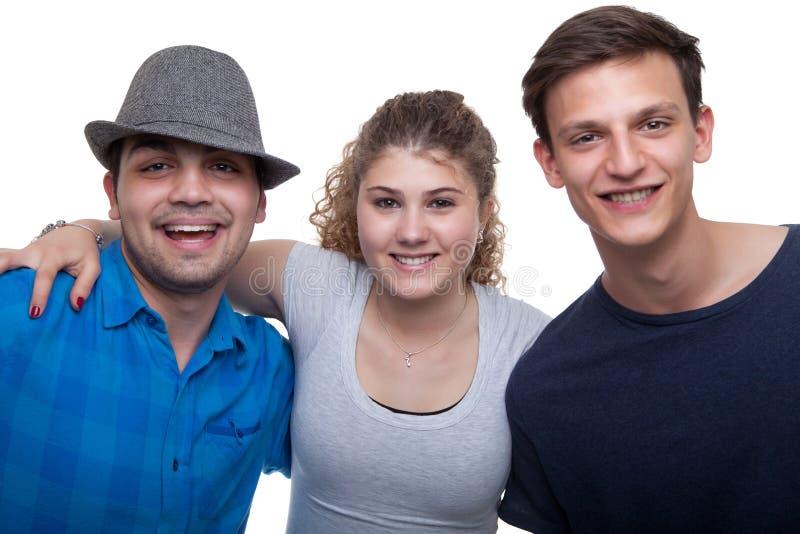 Ομάδα ευτυχούς χαμόγελου φίλων στοκ φωτογραφίες με δικαίωμα ελεύθερης χρήσης
