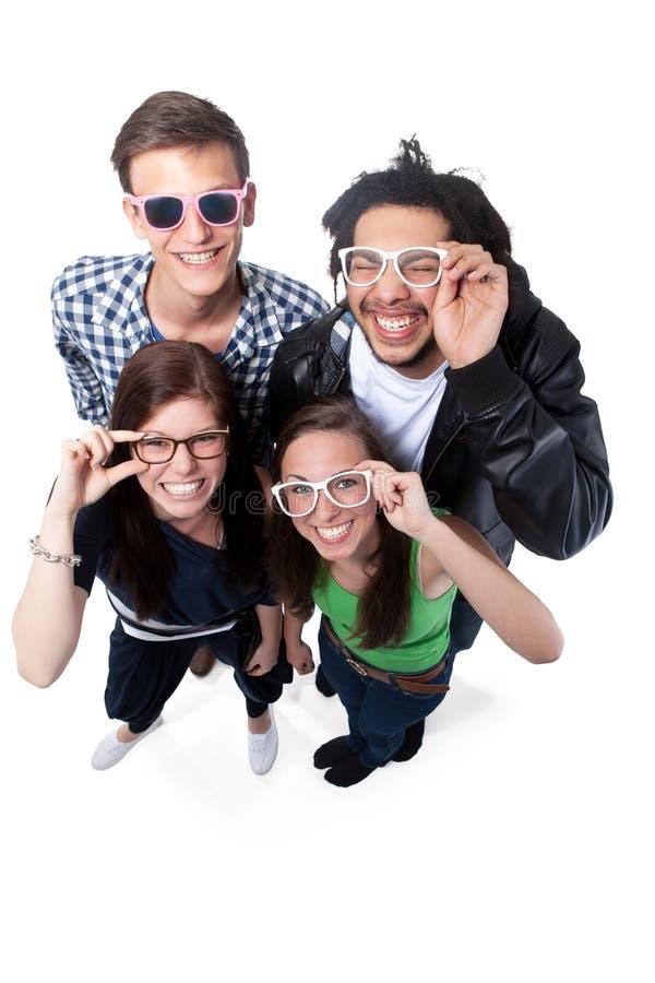 Ομάδα ευτυχών φίλων στοκ φωτογραφίες με δικαίωμα ελεύθερης χρήσης