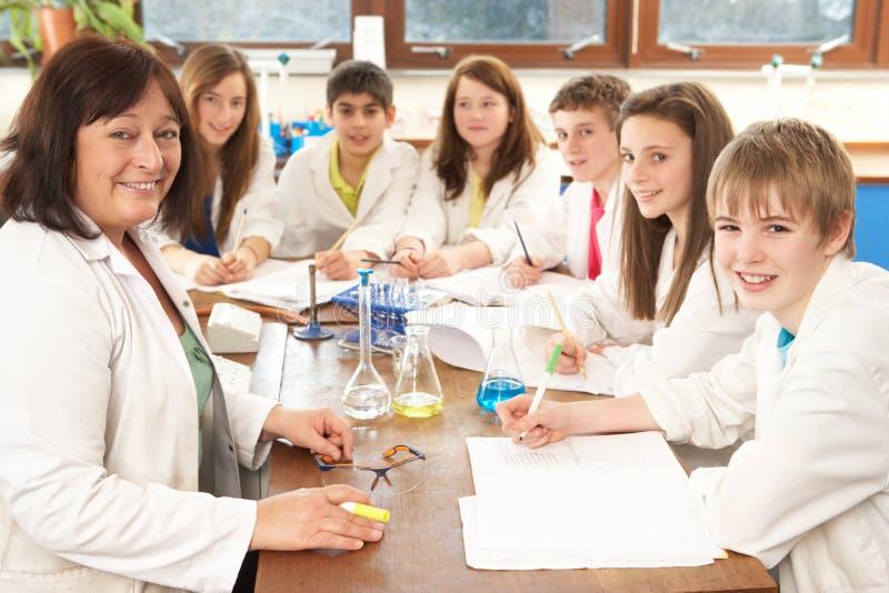 Ομάδα εφηβικών σπουδαστών στοκ εικόνες