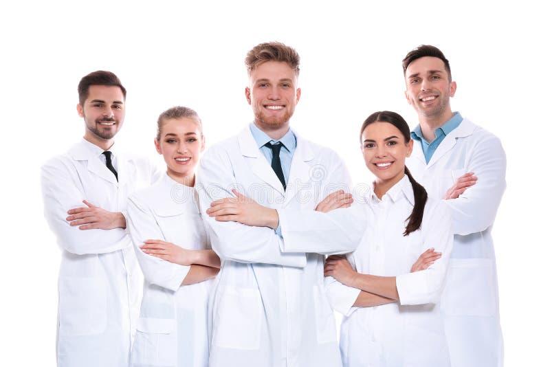 Ομάδα ιατρών που απομονώνονται Έννοια ενότητας στοκ εικόνα με δικαίωμα ελεύθερης χρήσης