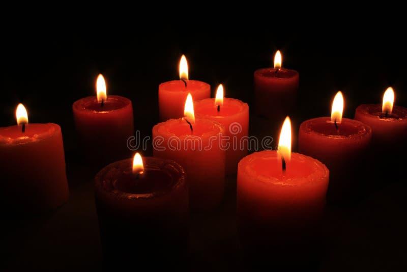 ομάδα κεριών αρώματος στοκ εικόνες με δικαίωμα ελεύθερης χρήσης
