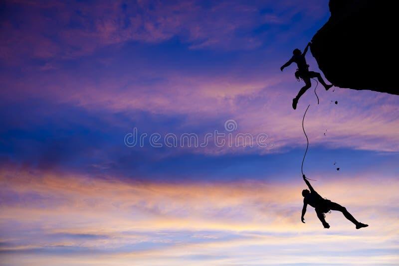 ομάδα κινδύνου ορειβατών στοκ εικόνα