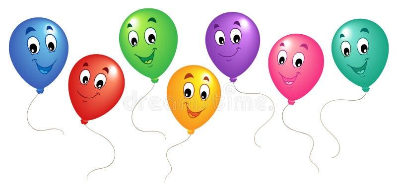 ομάδα κινούμενων σχεδίων 3 μπαλονιών ελεύθερη απεικόνιση δικαιώματος
