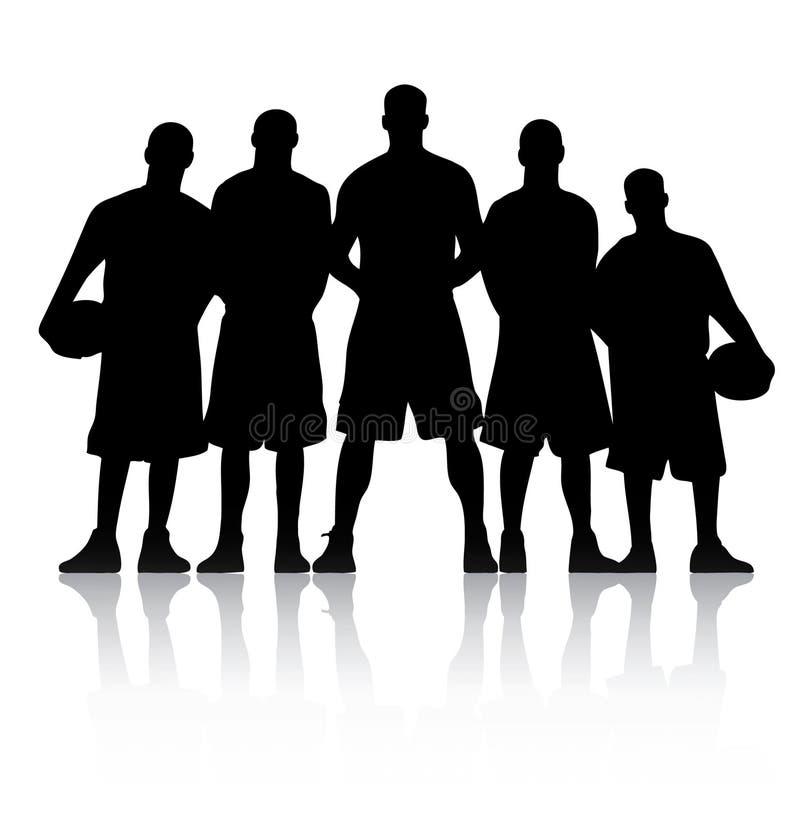 ομάδα μπάσκετ απεικόνιση αποθεμάτων