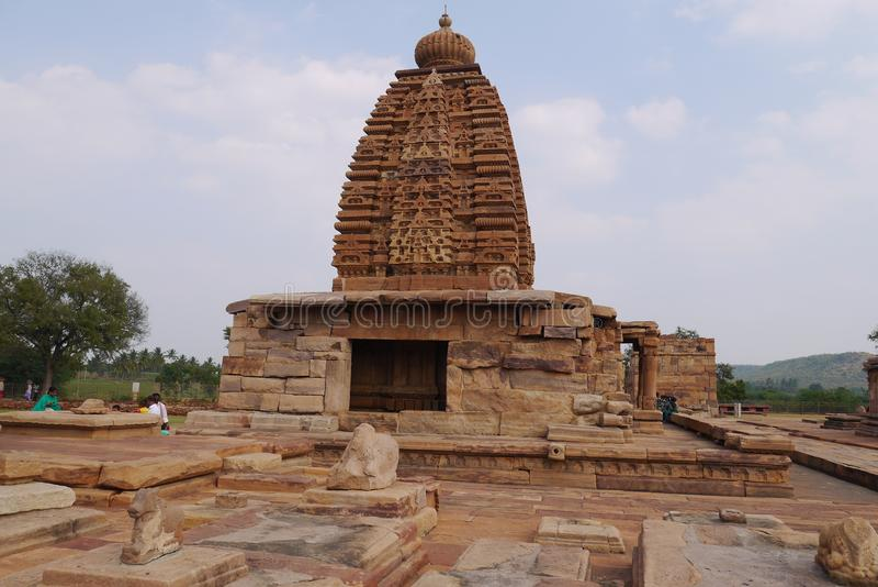 Ομάδα ναών στην πόλη Pattadakal στην Ινδία στοκ φωτογραφίες