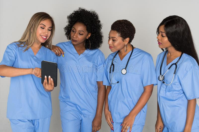 Ομάδα νοσοκόμων στοκ εικόνα με δικαίωμα ελεύθερης χρήσης