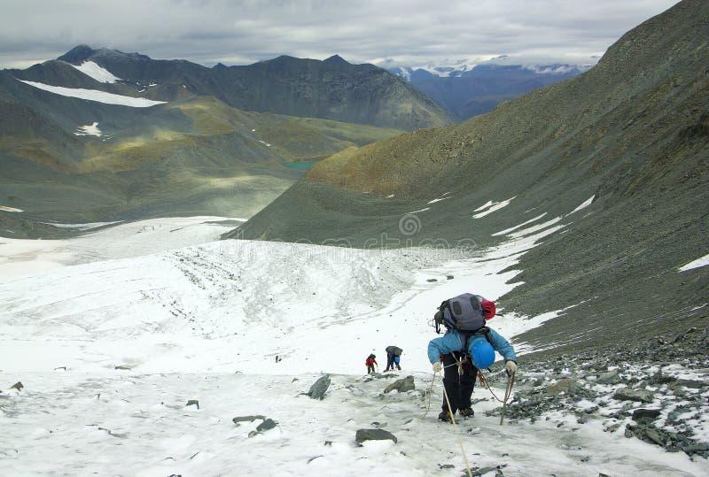 ομάδα παγετώνων ορειβατών στοκ εικόνες