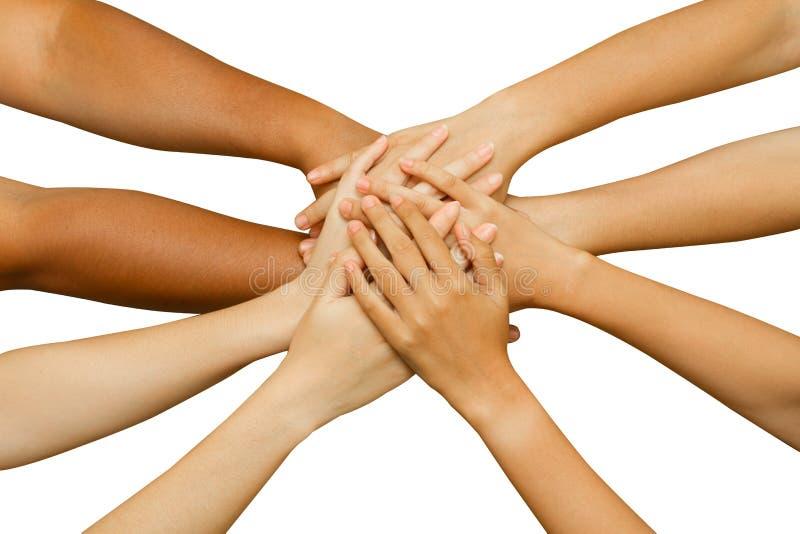 Ομάδα που εμφανίζει ενότητα στοκ εικόνα