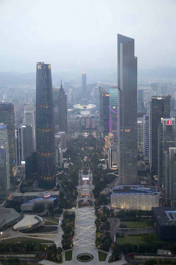 Ομάδα σύγχρονων κτηρίων κατά την άποψη Guangzhou στοκ φωτογραφία με δικαίωμα ελεύθερης χρήσης