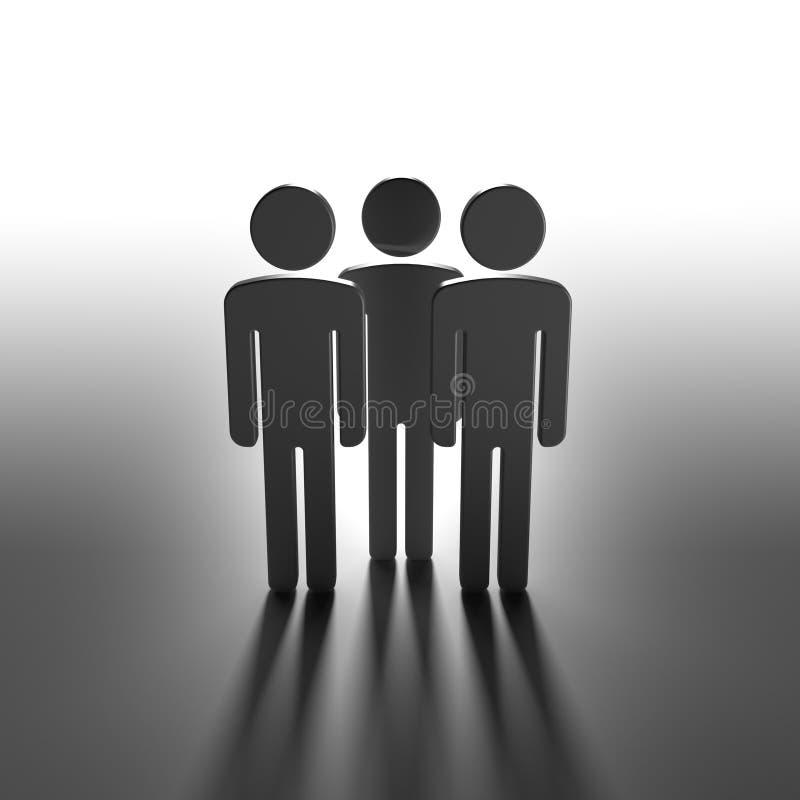 Ομάδα των ανθρώπινων αριθμών που στέκονται πριν από τις μεγάλες αλλαγές διανυσματική απεικόνιση