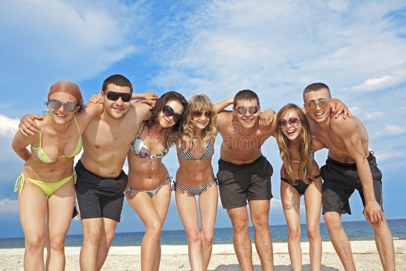 ομάδα φίλων παραλιών στοκ εικόνες με δικαίωμα ελεύθερης χρήσης